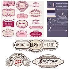 Label Design Free Vintage Design Label Set Vector Free Download