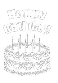 Birthday Coloring Pages - coloringsuite.com