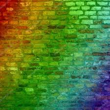 concept or conceptual colorful painted or graffiti old vintage grungy brick wall texture or urban background banner photo by design36