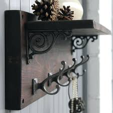 wall coat hooks with shelf reclaimed wood coat hook shelf wall mounted coat rack with shelf