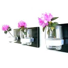 wall mounted vase wall mount flower vase wall flower vase midnight modern black wood wall mount wall mounted vase