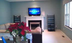 gallery of mounting tv over brick fireplace hiding wires install on rock above cables fireplce