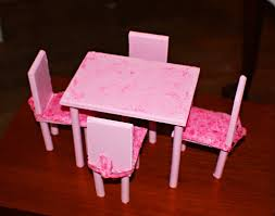 homemade barbie furniture ideas. Make Your Own Barbie Furniture Property Diy Dining Room Table \u0026 Chairsthis Was A First Homemade Ideas