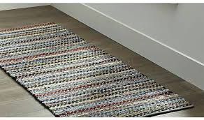 crate and barrel rugs runners rag rug runner 2 of 6 crate barrel pinstripe grey cotton