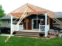 building attach roof over deck from house of fm patio incredible build a to building a roof over patio f