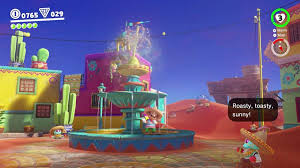 how to clear the ice in the sand kingdom in super mario odyssey