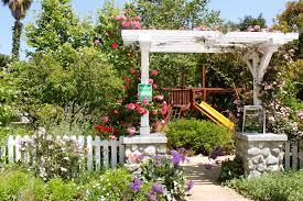 flower covered arbor landscaping network calimesa ca