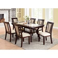 furniture of america mullican display top dining table dark cherry ivory hayneedle