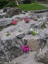 So where would you build a rock garden? Many people have sloped yards that  are hard to mow. Often the slope can be terraced by installing a rock garden .