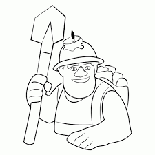 Kleurplaat Clash Royale Inferno Dragon Spear Goblins Coloring Page