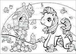 Ponies Coloring Pages Free Printable Of My Little Pony Sea