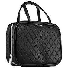 sephora makeup bag. sephora collection black quilted cosmetic bag the getaway makeup