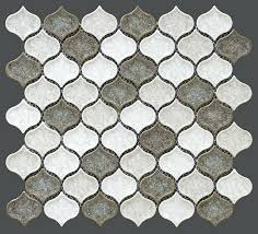 moroccan tile backsplash accessories for kitchen design and decoration using brown and white octagon glass tile