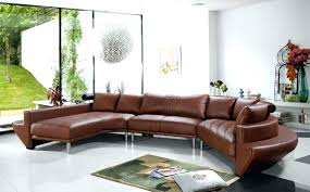 modern curved leather sectional sofa black contemporary furniture fascinating se