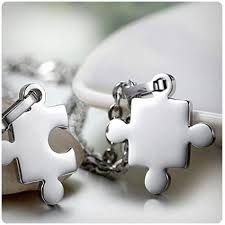 yce puzzle necklace best friends with gift box