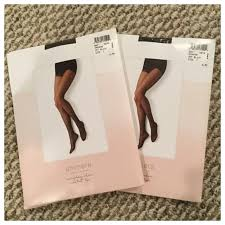 2pairs Of Sheer Control Top Nylons Nwt