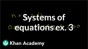 Systems Of Equations With Substitution Coins Video Khan