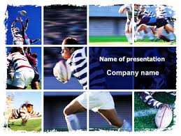 photo collage template powerpoint rugby collage powerpoint template backgrounds 06219