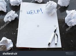 writers block help writing paper lump stock photo  writers block help writing paper lump marble background