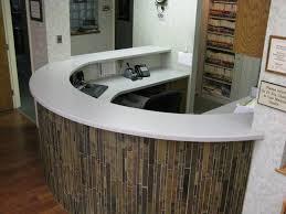 countertops tile reception desk
