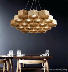 wooden chandelier loft wood pendant lamp honeycomb chandeliers