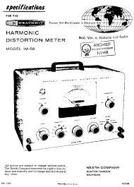 Harmonic Distortion Heathkit Euw24 Vtvm Sch Service Manual Free Download Schematics