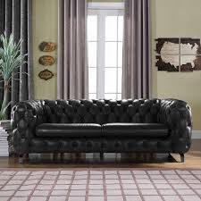 chesterfield sofa. Fine Sofa Yuliya Leather Chesterfield Sofa With BuiltIn Shelves Intended
