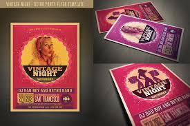Retro Style Party Flyer ~ Flyer Templates ~ Creative Market