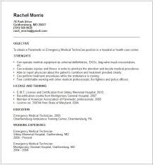 Emt Resume Examples Beautiful Paramedic Template Sidemcicek Of All