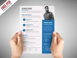 Unique Cv Format Free Resume Templates In Photoshop Psd Format