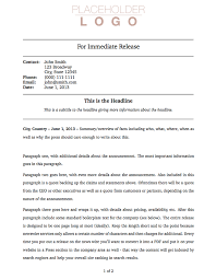 press release cover letter examples latex templates press release