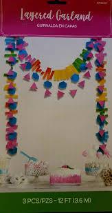 Multicolor <b>Layered</b> Garland - <b>3pcs</b> - Pink Bliss BVI