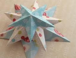 making christmas decorations 3d stars trio stacked .