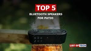 best bluetooth speakers for patios 5 outdoor waterproof speakers