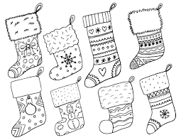 Small Picture Printable Christmas stocking coloring page Free PDF download at