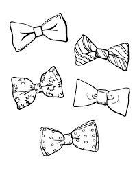 Small Picture Free Bow Tie Coloring Page