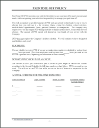 Personal Time Off Request Form Paid Time Off Template Listoflinks Co