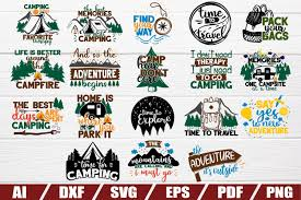 Cute free svg that is perfect for your camping trip this summer. Camper Svg Bundle 18 Designs Cut File Eps Camping 500991 Cut Files Design Bundles