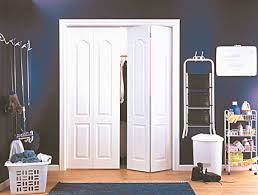 Bedroom : Dazzling Awesome White Modern Bifold Closet Doors ...