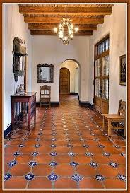 Spanish Home Decorating Traditional Style Spanish Home Interior Idea With Travertine Tiles