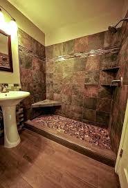 elegant collection rock tiles for bathroom river rock bathroom tile simbase