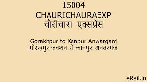 15004 CHAURICHAURAEXP Train Route