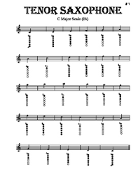 Scales Tenor Sax With Fingering Diagrams