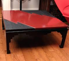 lacquer coffee tables pair of black and red lacquer coffee tables lightning bolt design asian black lacquer coffee table