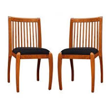 sienna cherry black vertical slat dining chairs set of 2