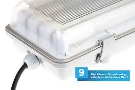 t8 led vapor proof light fixture for 4 led t8 s led light 4 long