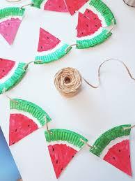 Pappteller Bastelidee Fruchtige Melonen Girlande Für Den Sommer
