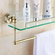 glass shelves for bathroom. gold crystal bathroom shower glass shelf bath corner rack holder commodity shelf-in shelves from for