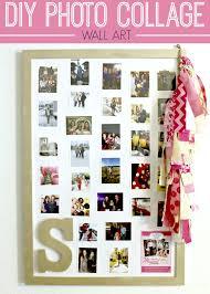 diy photo collage wall art tutorial