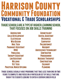 scholarship infographics hccf na org vocational trade scholarships